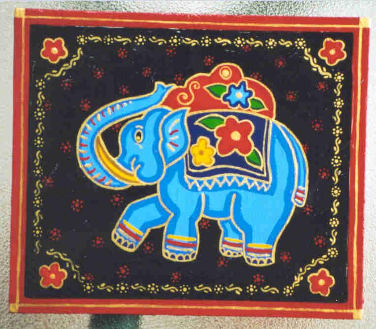 Blue Elephant - Moghul Style