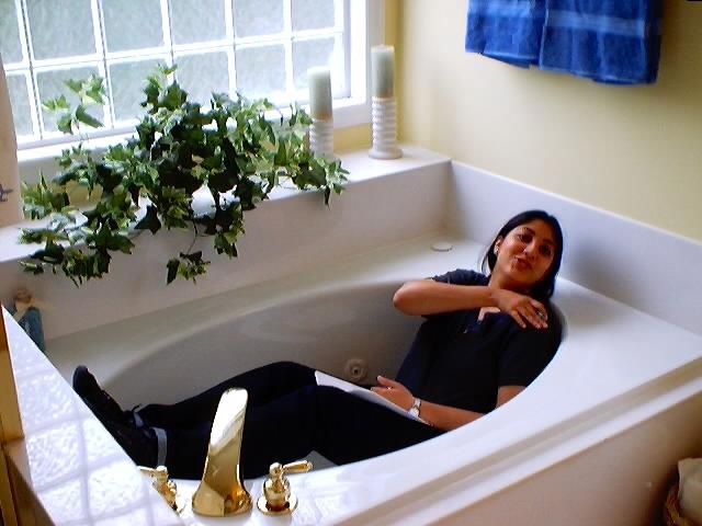 Kruti in the Master Bath!