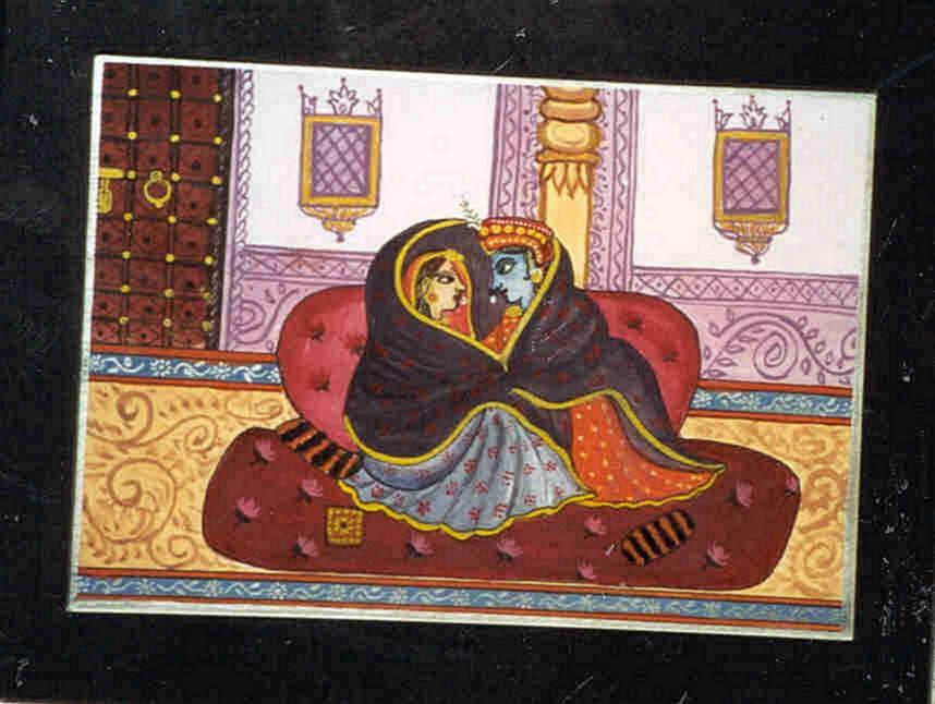 Radha & Krishna - Miniature Style