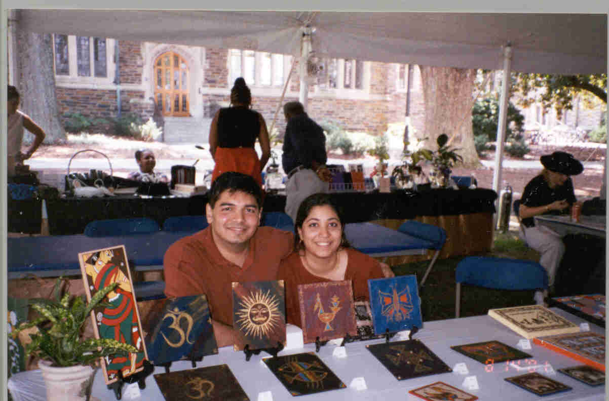 Kruti & Mehul at an Art Exhibition in Duke University.